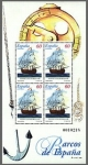 Stamps Spain -  ESPAÑA 1996 3416 Sello ** HB Barcos de Epoca Navio El Catalan