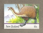 Stamps Oceania - New Zealand -  Moa gigante, extinto