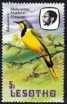 Stamps Africa - Lesotho -  Aves. Malaconotus Telophorus Pjempjete.
