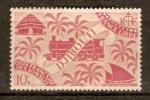 Stamps Africa - Djibouti -  LOCOMOTORA  Y  PALMAS