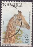 Stamps Africa - Namibia -  NAMIBIA 1997 Sello Serie Animales Jirafa Usado
