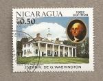 Sellos de America - Nicaragua -  250 Aniv. de G. Washington