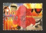 Stamps : Europe : Netherlands :  Taza de café, copas de vino y velas