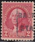 Sellos de America - Estados Unidos -  USA 1932 Scott 707 Sello Presidente George Washington usado Estados Unidos Etats Unis