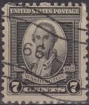 Stamps United States -  USA 1932 Scott 712 Sello Presidente George Washington usado Estados Unidos Etats Unis