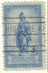 Sellos de America - Estados Unidos -  USA 1950 Scott 989 Sello Aniv. Capital Nacional Estatua de la Libertad en el Capitol Dome usado