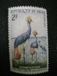 Stamps Africa - Nigeria -  grues couronnes - proteccion de la fauna