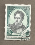 Stamps Russia -  Lord Byron, poeta inglés