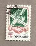 Stamps Russia -  Vuelo espacial ruso-afgano