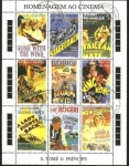 Stamps of the world : São Tomé and Príncipe :  El cine en el sello