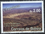Stamps of the world : Bolivia :  Lugares Turisticos - Chuquisaca