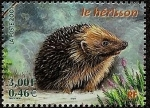 Stamps Europe - France -  Animales del bosque - el erizo