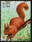 Stamps France -  Animales del bosque - la ardilla