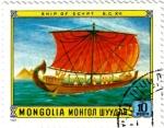 Stamps Mongolia -  Antiguo barco de Egipto