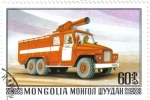 Stamps Mongolia -  Bomberos. Ciudad de Mohron