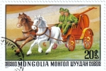 Sellos de Asia - Mongolia -  Transporte. Ciudad de Mohron