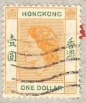 Stamps Hong Kong -  Queen Elizabeth II