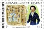 Stamps Asia - Maldives -  150 aniversario de la muerte de Beethoven