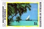 Stamps Asia - Maldives -  10 aniversario de la República