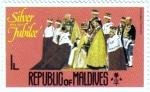 Stamps Asia - Maldives -  Bodas de Plata 1952-1977