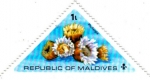 Stamps Asia - Maldives -  Corales Phyllangia