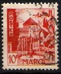 Stamps Morocco -  Patio con fuente.