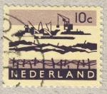 Stamps Netherlands -  diques en el mar