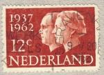 Stamps Netherlands -  cincuentenario boda Real  1937-1962