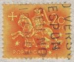 Sellos de Europa - Portugal -  Caballero