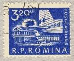 Stamps Romania -  aeropuerto