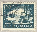 Stamps Romania -  transporte maritimo