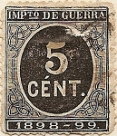 Stamps of the world : Spain :  IMPto DE GUERRA 1898-99
