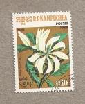 Stamps Asia - Cambodia -  Flor Magnolia