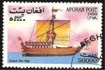 Sellos del Mundo : Asia : Afganistán : barco danes de vela antiguo