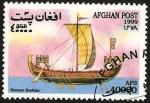 Sellos del Mundo : Asia : Afganistán : barco normando de vela antiguo