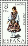 Stamps Spain -  ESPAÑA 1971 2017 Sello Nuevo Trajes típicos Españoles Zamora c/señal charnela