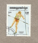 Stamps Asia - Cambodia -  Juegos Olimpicos Los Angeles 1984
