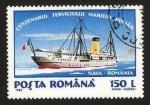 Sellos de Europa - Rumania -  centº del servicio maritimo rumano, barco