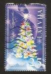 Stamps Europe - Latvia -  arbol de navidad