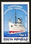 Stamps Romania -  centº del servicio maritimo rumano, barco