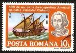 Stamps Romania -  500 anivº del descubrimiento de america por cristobal colon