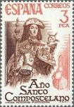 Stamps Spain -  ESPAÑA 1976 2306 Sello Nuevo Año Santo Compostelano. Virgen Peregrina Pontevedra c/s charnela