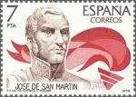Sellos de Europa - España -  ESPAÑA 1978 2489 Sello Nuevo America España Jose de San Martin c/señal charnela