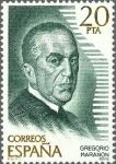 Sellos de Europa - España -  ESPAÑA 1979 2515 Sello Nuevo Personajes Españoles Gregorio Marañon c/señal charnela