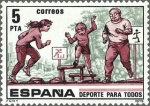 Stamps Spain -  ESPAÑA 1979 2516 Sello Nuevo Deporte para todos c/señal charnela