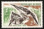 Sellos del Mundo : Africa : Níger : 191 - Fauna, ceryle rudis