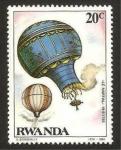 Stamps Rwanda -  globo de pilatre