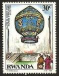 Sellos de Africa - Rwanda -  globo de pilatre