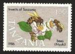 Stamps : Africa : Tanzania :  fauna abejas