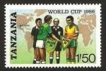 Stamps Africa - Tanzania -  campeonato mundial de futbol mexico 1986
